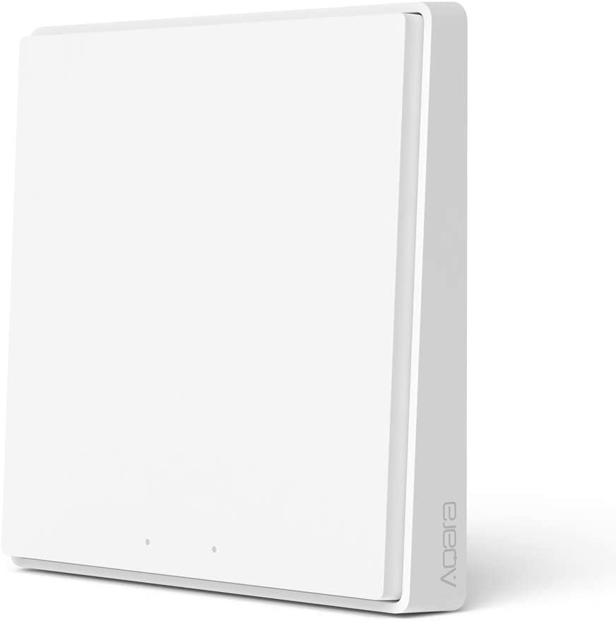 Kit de Seguridad para Aqara Zigbee Smart Home 3,1xAqara Gateway,1xAqara Controlador de cubo mágico,2xAqara Sensor de puerta y ventana(1X Interruptor Inalambrico 2020 Nueva Versión)1 botón