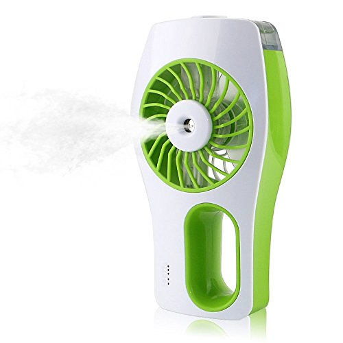 OWIKAR Mini Misting Fan Handheld Humidifier Fan USB Chargeable Portable Water Atomizing (Large Blade Balancing Kit)