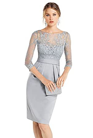 Women 3/4 Sleeve Wedding Lace Mother of The Bride Dresses