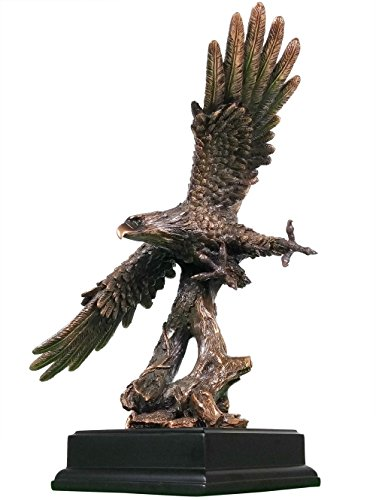 Personalized BSA Eagle Scout Gift Award - Guided by Vision Scouting Eagle Statue, Free Engraving, Bronze Finish (Eagle Award)