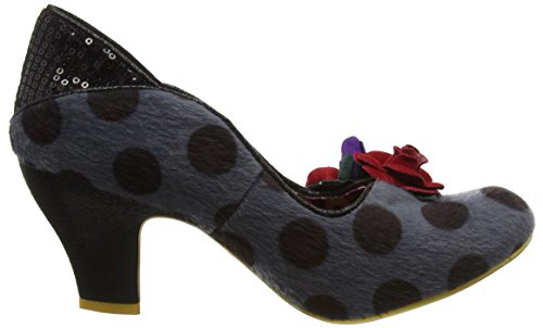 Grey Heels Closed Toe Black Winchester Women's Grey Irregular Choice xwqY4Z7Y