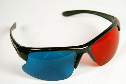 (Pro X Style Red/Cyan 3D Glasses for Movies and Games on Flat Screens)