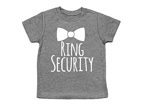 Oliver and Olivia Apparel Ring Security Shirt Ring Bearer Shirt Ring Bearer Gift (2T, Heather Gray)