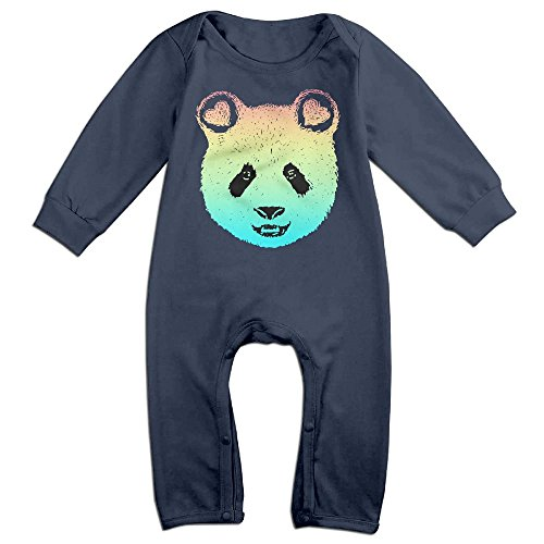 [Baby Infant Romper Rainbow Panda Galaxy Long Sleeve Playsuit Outfits Navy 18 Months] (Panda Bear Baby Plus Size Costumes)