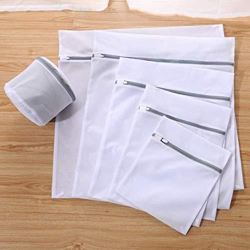 2019年最新7点(個)細かいメッシュ粗目メッシュランドリーバッグ 4種類の素材 70g 厚手 細かいメッシュランドリーバッグ 下着 ランドリーバッグ デザイナー洗濯バッグセット 卸売 Coarse Net 6 (PCS) ホワイト B07PW9QCSS  Coarse Net 6 (PCS)