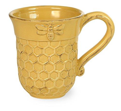 Boston International JC17150 Ceramic Mug, 13-Ounces, Honeycomb