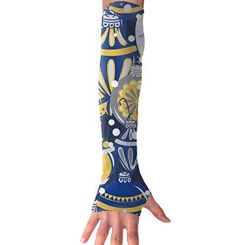 Winter Mod Ornaments Christmas Holidays Arm Sleeves UV Protection For Men Women Youth Arm Warmers For Cycling Golf Baseball Basketball (Holiday Bicycle Ornament)