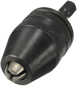 YH-KE Drill 1//4 Inch Hex Shank Keyless Drill Chuck Quick Change Adapter Converter 0.3-3mm Drill Accessories Tools