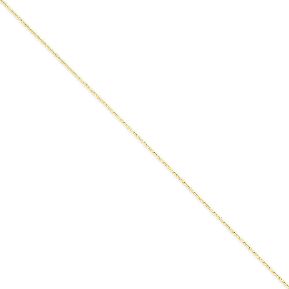 14K White Neckalce 0.95MM 30 INCH Long 14k White Gold .95mm Box Chain