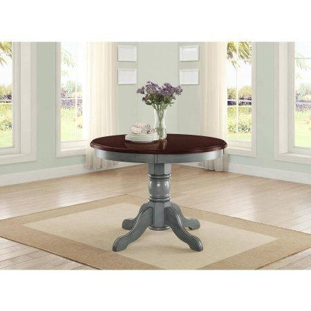 42″ Round Table Top, Easily Accommodates Seating for 4, Multi-Step, Blue Review