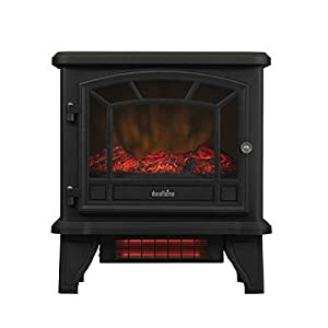 Duraflame Freestanding Infrared Quartz Fireplace Stove, Black
