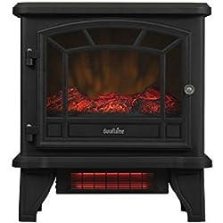 Duraflame Freestanding Infrared Quartz Fireplace Stove, Black