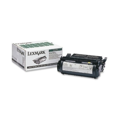 Lexmark 12A5845 High-Yield Toner Cartridge, Black - in Retail Packaging