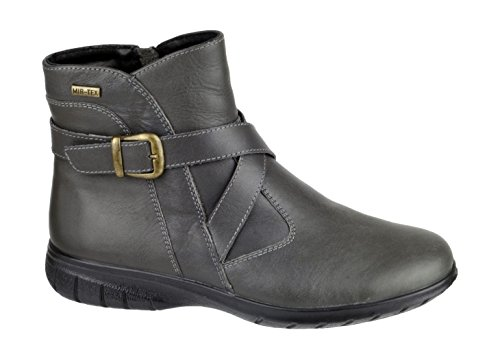 Grey Leather Shipton Ladies Black Zip Cotswold Boot Ankle Fastening ZqUCw