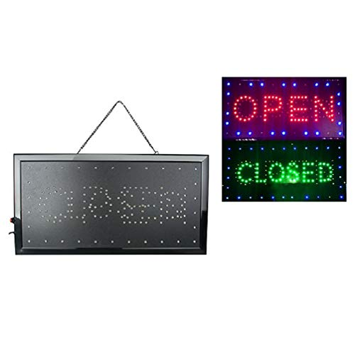 Enshey 2 in1 Open & Closed Store Sign, Business Sign, Windows Sign Neon LED Business Store Shop Open Sign Chain Advertisement Board Electric Display Sign for Business, Walls, Window, Shop, -