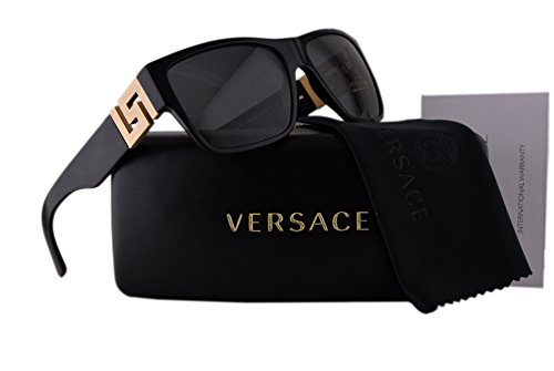 77217134b8 Versace VE4296 Sunglasses Black w Polarized Gray Lens GB187 VE 4296   Amazon.co.uk  Clothing