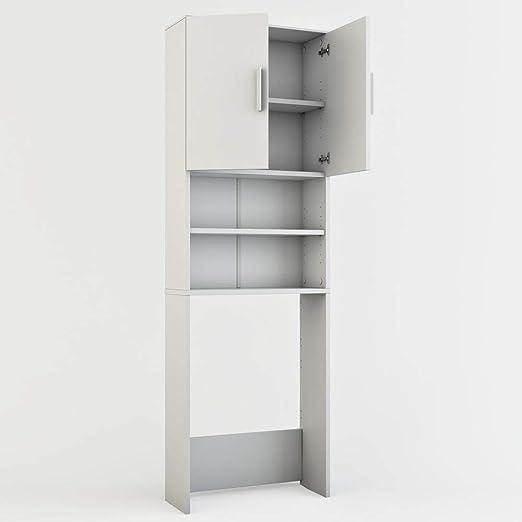 Vicco - Armario para Lavadora, 190 x 64 cm, Mueble de baño ...