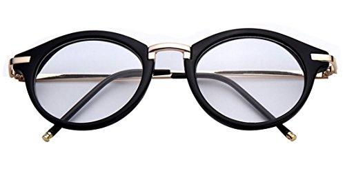 GAMT Round Hipster Glasses Clear Full Frame Eyeglasses for Men and ...