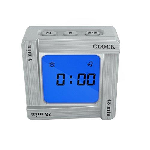 Fashion Scientific Time Management Tomato Timing Reminder Flip Four Square Clock -