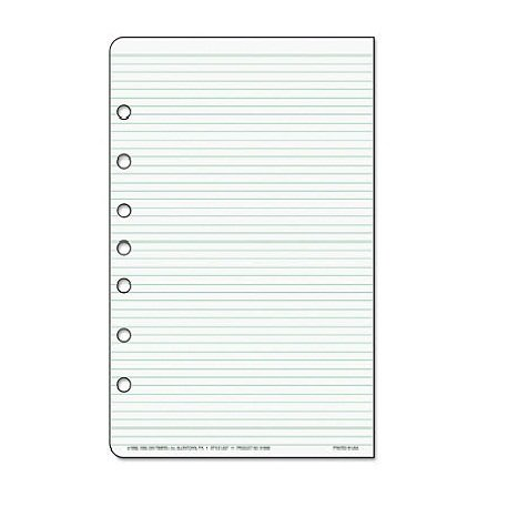 Day-Timer Desk Size Multipurpose Lined Page - 48 Sheet - Narrow Ruled - 5.50