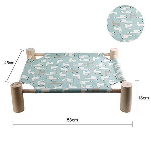 Alician Detachable Pet Hammock Scratch Resistant Bed for Rabbit Dogs Puppy Cats Sleeping Green Alpaca L-Large