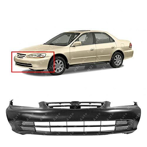 MBI AUTO - Primered, Front Bumper Cover for 2001 2002 Honda Accord Sedan, HO1000196 ()