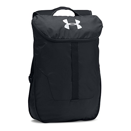 Under Armour Unisex Expandable Sackpack,Black (001)/Silver, One Size