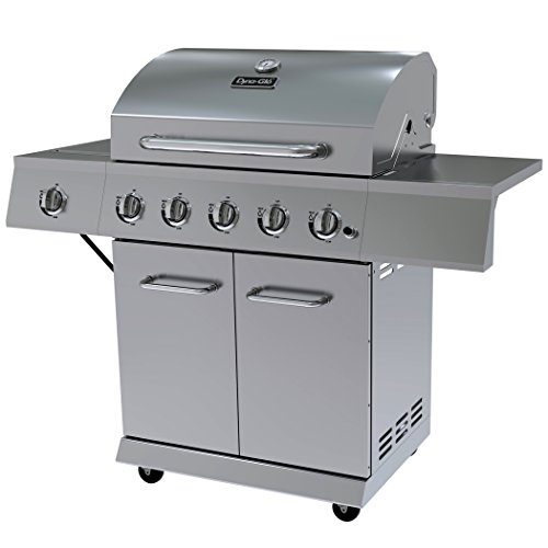 Dyna-Glo DGE Series Propane Grill, 5 Burner, Stainless