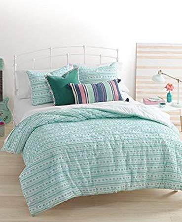 Martha Stewart Bedroom Collection - Martha Stewart Whim On the Dot King Comforter Cover Set Seafoam