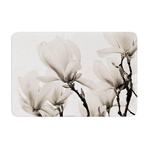 "Cheap KESS InHouse IL2051ABM02 Bath Mat Iris Lehnhardt ""Magnolia Blossoms"" White Floral Memory Foam Bath Mat, 24"" X 36"",,"