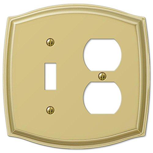 Polished Toggle - AMERELLE Sonoma Polished Brass Steel 1 Toggle / 1 Duplex Wallplate