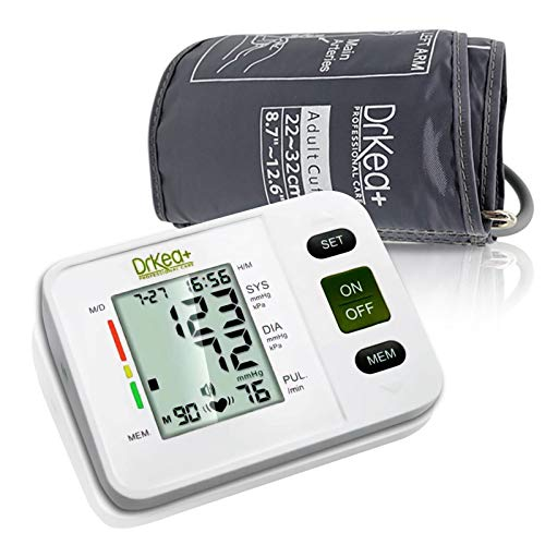 Blood Pressure Monitor Upper Arm - Fully Automatic Blood Pressure Machine Large Cuff Kit - Digital BP Monitor For Adult, Pregnancy - Blood Pressure Kit For Home Use - Batteries, Storage Bag Included by DrKea