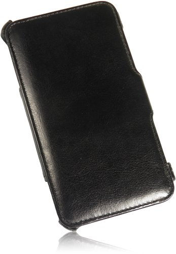 Premium Für Apple iPhone 5 5S NEW Ultra Slim Book Flip Style Smart PU Leder Handytasche mit Aufstellfunktion Wallet Tasche Case Hülle in Schwarz/Black