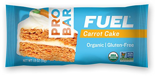 PROBAR - FUEL Energy Bar - Carrot Cake - Organic, Gluten Free, Non-GMO Project Verified, Plant-Based Whole Food Ingredients, 3g Protein - Pack of 12 Bars