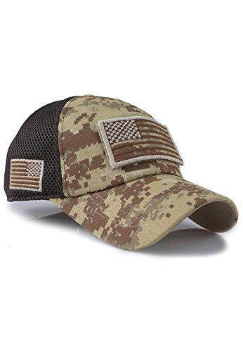 Velcro Patch Baseball - Micro MeshTactical Operator Forces USA Flag Patch Baseball Cap (Digital Desert)