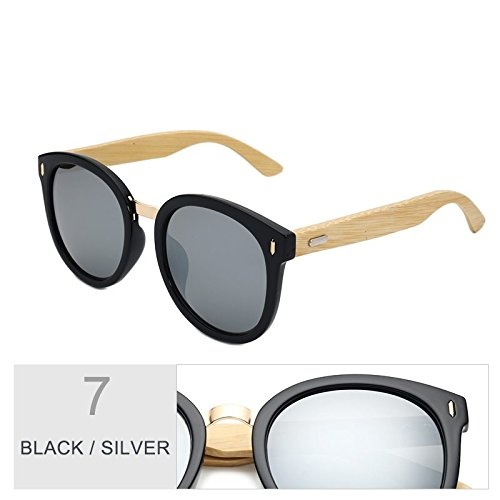Mujer Sol TIANLIANG04 Gafas Negro Gris La De Silver Con Espejo Regalo Redondo Para De Color Gradual Caja Black rEqtHxwE