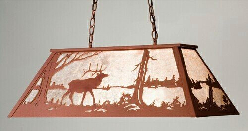 Elk at Lake Oblong Pendant (Billiard Oblong Pendant)