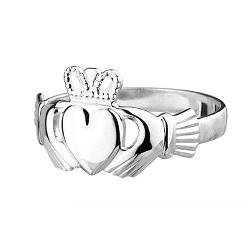 Solvar Claddagh Ring Ladies Medium Standard Sterling Size 10