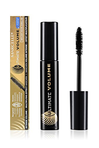 Marcelle Ultimate Volume Waterproof Mascara, Black, Hypoallergenic and Fragrance-Free, 0.33 fl oz (Volume Mascara Ultimate)