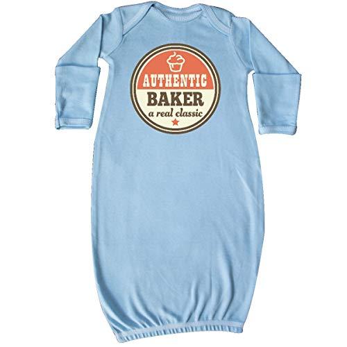 inktastic - Baking Gift Baker Cupcake Quote Newborn Layette Light Blue 36bd2
