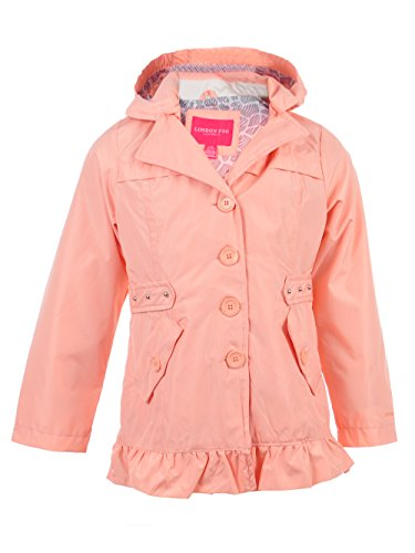 London Fog Girls' Trench Coat (Melon, 4)