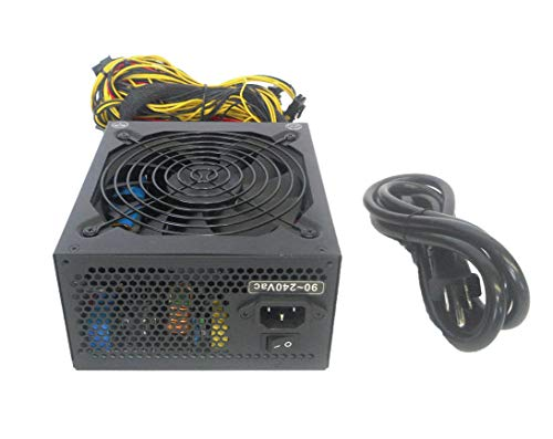 RIG-1600W-EPS 1600-Watt 12x 6+2 pin PCIE ATX12V 8-SATA Active PFC High Efficient Gaming PC Power Supply