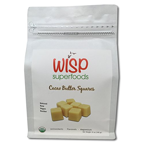 Wisp Superfoods Cocoa Butter Cubes, Natural Raw Pure Unre...