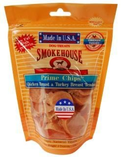 Smokehouse Pet Products 85458 4 Oz. Chicken & Turkey Breast Chips Dog Treats