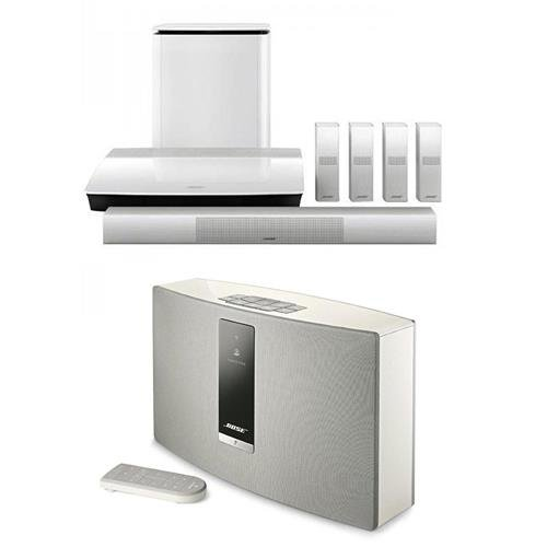 Click to buy Bose Lifestyle 650 Home Theater System with OmniJewel Speakers, White - With Bose SoundTouch 20 Series III Wireless Music System Black - From only $4348