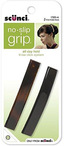 SCUNCI 8.5 cm No Slip No Damage Auto Clasp Bar, 2 pk