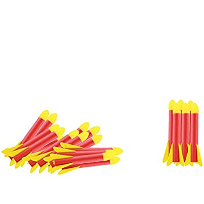 High Bounce Jump Rocket Set Toy with 20 Refill Foam Rockets for Kids Boys/Girls Outdoor Fun, Launcher Shoots up to 100 Feet: Toys & Games
