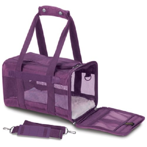 - Sherpa Original Deluxe Pet Carriers With Bonus Go Dog Dragon Pet Toy (plum, small)