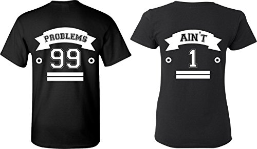 88c595a2e4 99 Problems & Ain't 1 - Matching Couple Shirts - His and Her T-Shirts - Tees  - Buy Online in Jordan.   Apparel products in Jordan - See Prices, ...