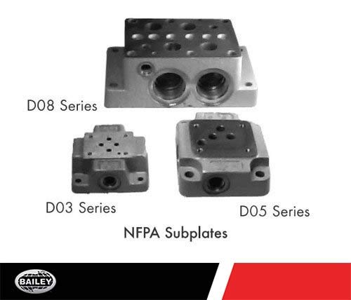 DO3 Solenoid Valve Heavy Duty Subplate MFG. NO. SD03-6-FS-S: 1 Section, 3000 PSI, SAE #6 Side Ports, Rugged Design, Easy Valve Replacement, 220424